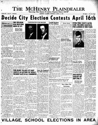 McHenry Plaindealer (McHenry, IL), 11 Apr 1957