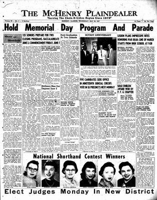 McHenry Plaindealer (McHenry, IL), 29 May 1957