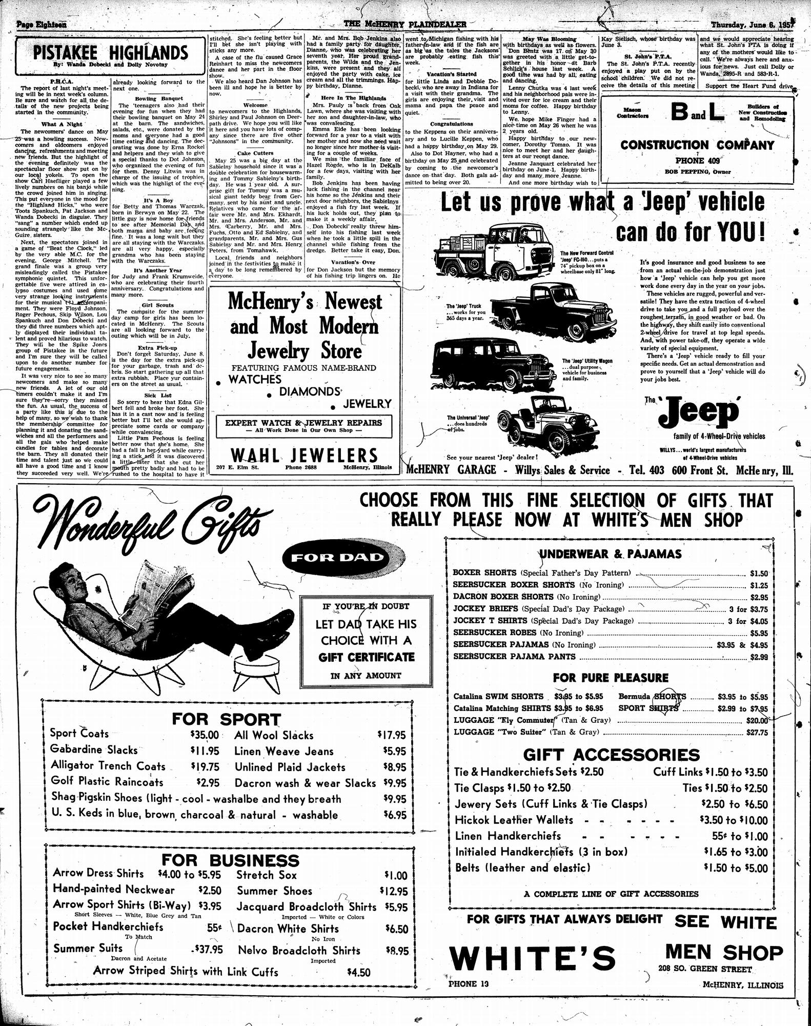 McHenry Plaindealer (McHenry, IL), 6 Jun 1957