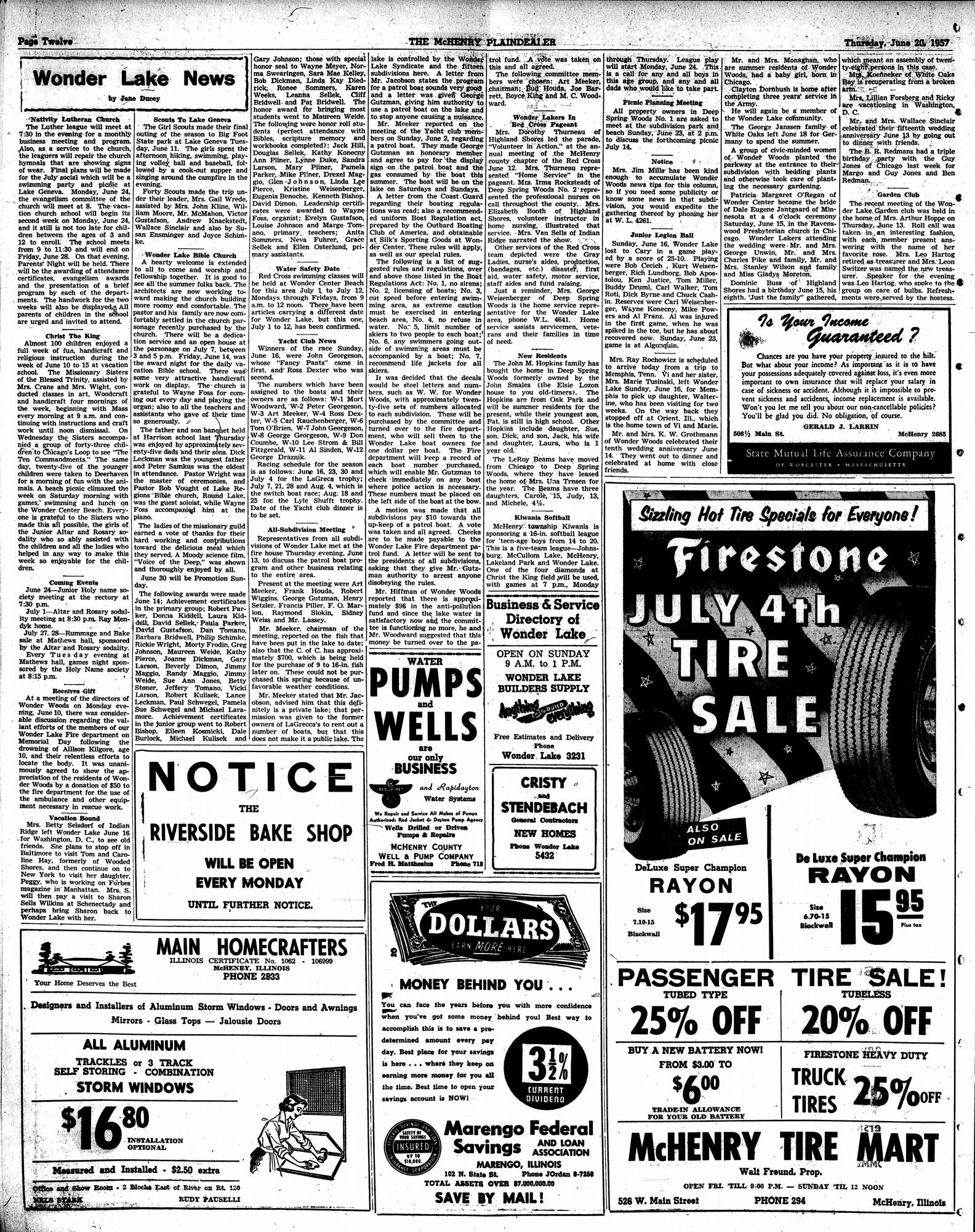 McHenry Plaindealer (McHenry, IL), 20 Jun 1957