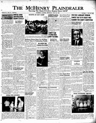 McHenry Plaindealer (McHenry, IL), 25 Jul 1957