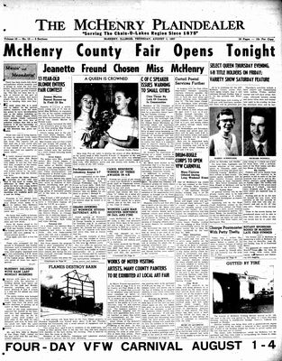 McHenry Plaindealer (McHenry, IL), 1 Aug 1957