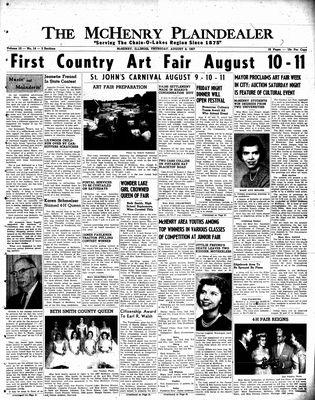 McHenry Plaindealer (McHenry, IL), 8 Aug 1957