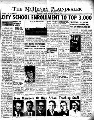 McHenry Plaindealer (McHenry, IL), 29 Aug 1957