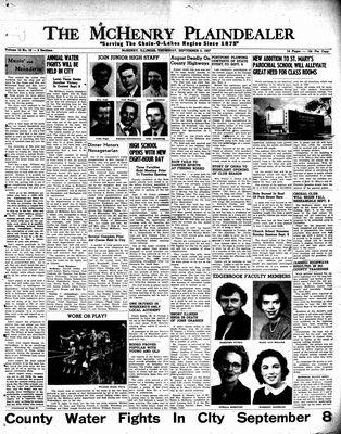 McHenry Plaindealer (McHenry, IL), 5 Sep 1957