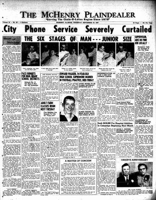 McHenry Plaindealer (McHenry, IL), 19 Sep 1957