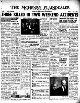 McHenry Plaindealer (McHenry, IL), 3 Oct 1957