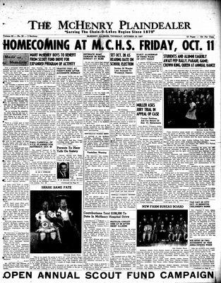 McHenry Plaindealer (McHenry, IL), 10 Oct 1957