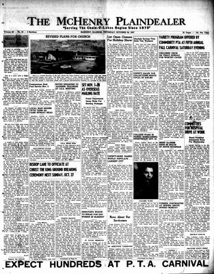 McHenry Plaindealer (McHenry, IL), 24 Oct 1957