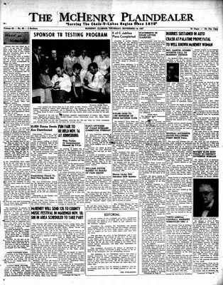 McHenry Plaindealer (McHenry, IL), 14 Nov 1957