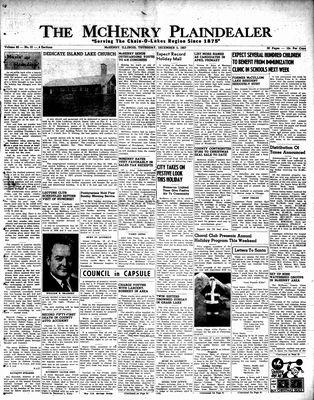 McHenry Plaindealer (McHenry, IL), 5 Dec 1957