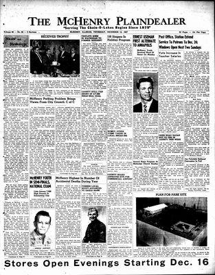 McHenry Plaindealer (McHenry, IL), 12 Dec 1957