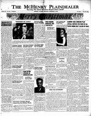 McHenry Plaindealer (McHenry, IL), 19 Dec 1957