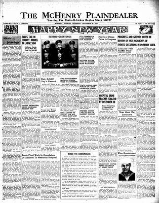McHenry Plaindealer (McHenry, IL), 26 Dec 1957
