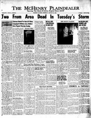 McHenry Plaindealer (McHenry, IL), 23 Jan 1958