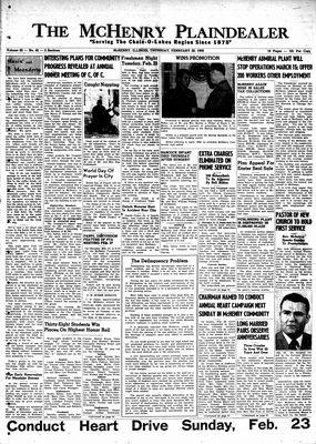McHenry Plaindealer (McHenry, IL), 20 Feb 1958