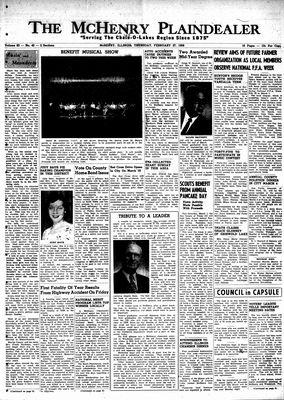 McHenry Plaindealer (McHenry, IL), 27 Feb 1958