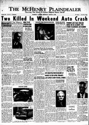 McHenry Plaindealer (McHenry, IL), 6 Mar 1958