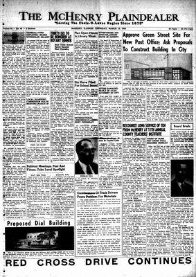 McHenry Plaindealer (McHenry, IL), 13 Mar 1958