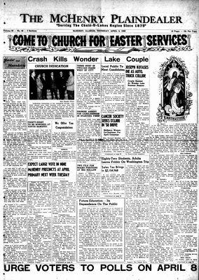 McHenry Plaindealer (McHenry, IL), 3 Apr 1958