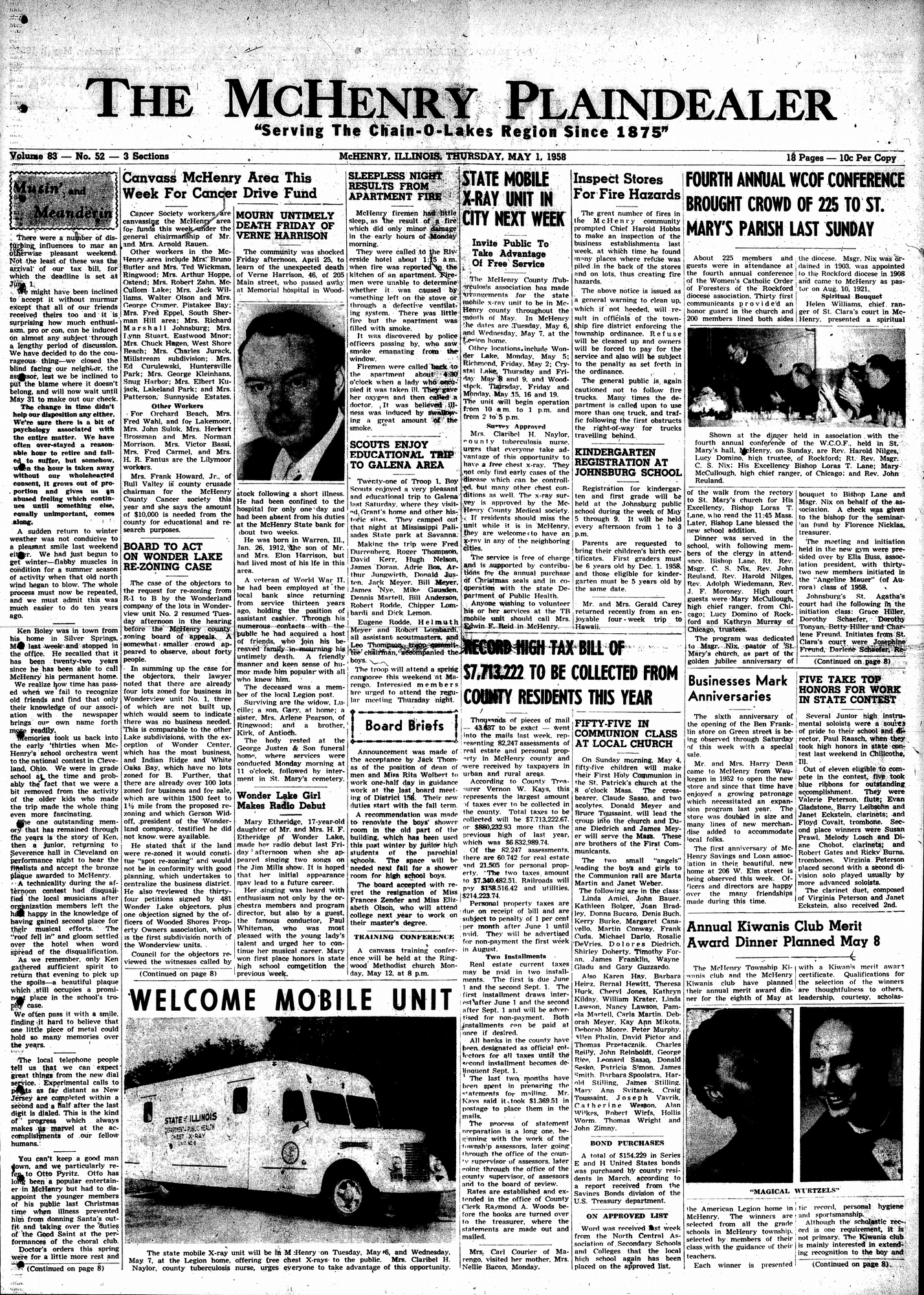 McHenry Plaindealer (McHenry, IL), 1 May 1958
