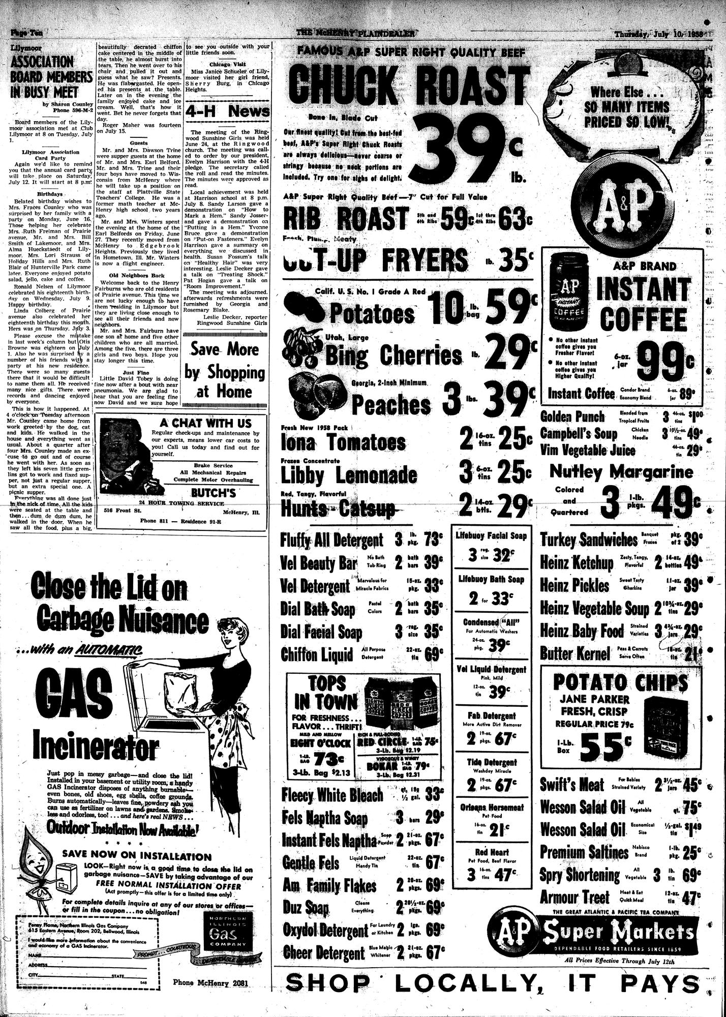 McHenry Plaindealer (McHenry, IL), 10 Jul 1958