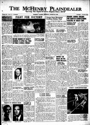 McHenry Plaindealer (McHenry, IL), 28 Aug 1958