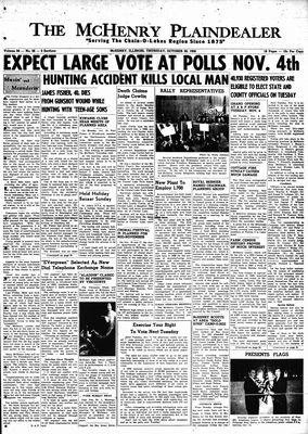 McHenry Plaindealer (McHenry, IL), 30 Oct 1958