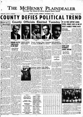 McHenry Plaindealer (McHenry, IL), 6 Nov 1958