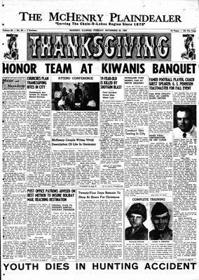 McHenry Plaindealer (McHenry, IL), 25 Nov 1958