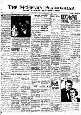 McHenry Plaindealer (McHenry, IL), 4 Dec 1958