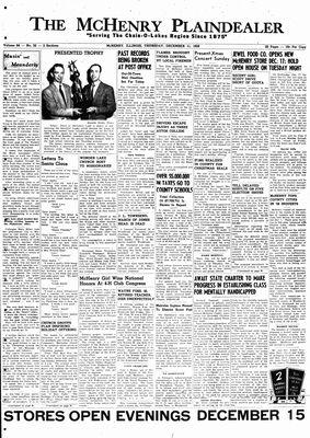 McHenry Plaindealer (McHenry, IL), 11 Dec 1958