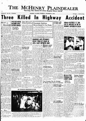 McHenry Plaindealer (McHenry, IL), 18 Dec 1958