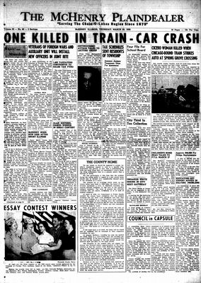 McHenry Plaindealer (McHenry, IL), 20 Mar 1958