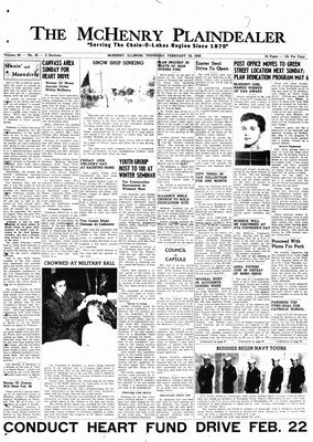 McHenry Plaindealer (McHenry, IL), 19 Feb 1959