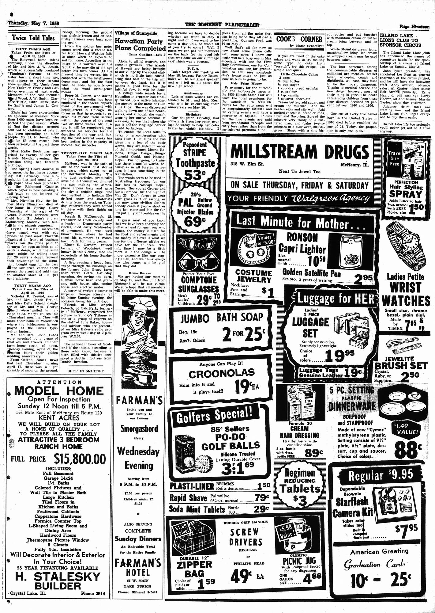 McHenry Plaindealer (McHenry, IL), 7 May 1959