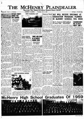 McHenry Plaindealer (McHenry, IL), 4 Jun 1959