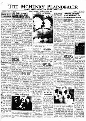 McHenry Plaindealer (McHenry, IL), 23 Jul 1959