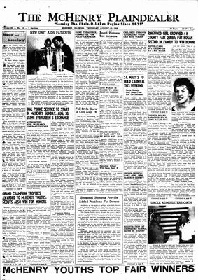 McHenry Plaindealer (McHenry, IL), 13 Aug 1959
