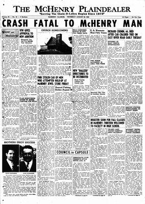 McHenry Plaindealer (McHenry, IL), 20 Aug 1959