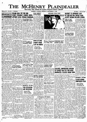McHenry Plaindealer (McHenry, IL), 17 Sep 1959