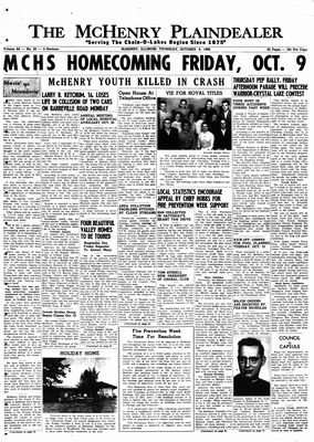 McHenry Plaindealer (McHenry, IL), 8 Oct 1959