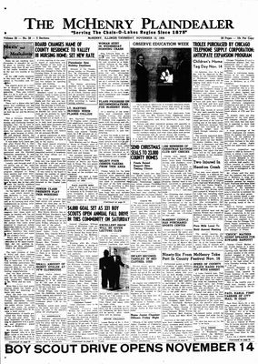 McHenry Plaindealer (McHenry, IL), 12 Nov 1959