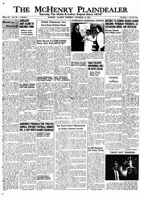 McHenry Plaindealer (McHenry, IL), 19 Nov 1959