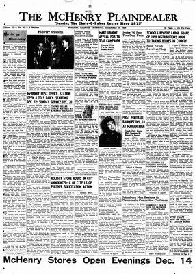 McHenry Plaindealer (McHenry, IL), 10 Dec 1959