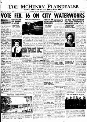 McHenry Plaindealer (McHenry, IL), 11 Feb 1960