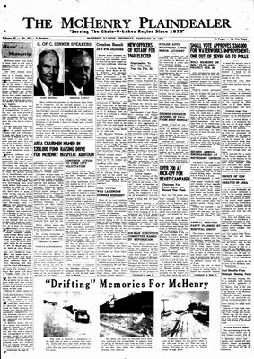 McHenry Plaindealer (McHenry, IL), 18 Feb 1960