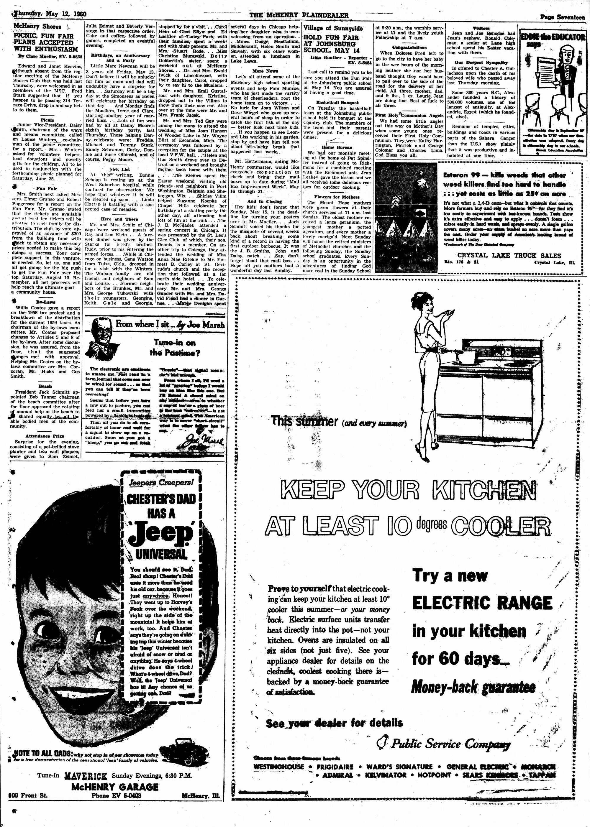 McHenry Plaindealer (McHenry, IL), 12 May 1960