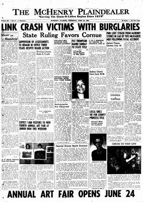 McHenry Plaindealer (McHenry, IL), 23 Jun 1960