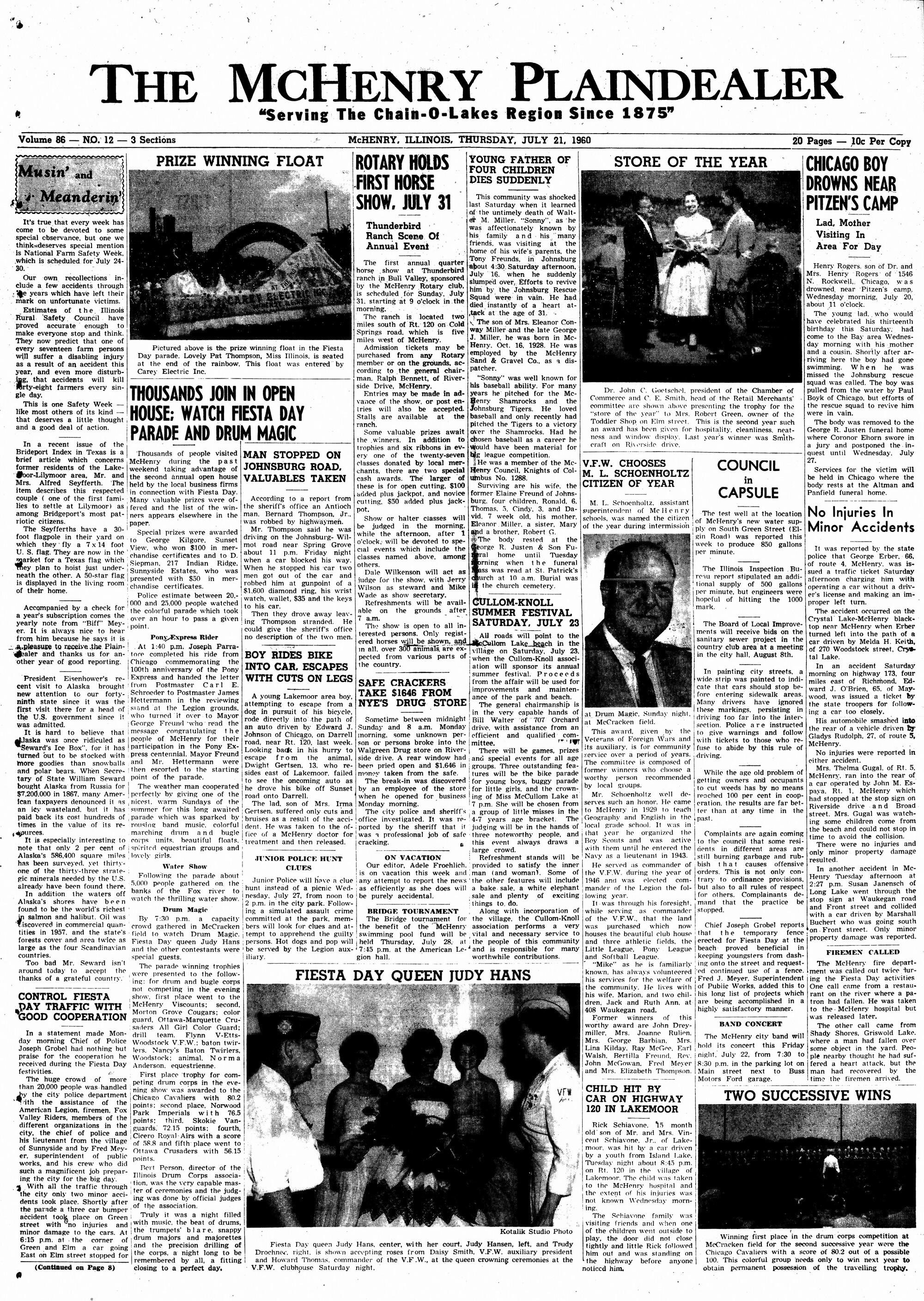 McHenry Plaindealer (McHenry, IL), 21 Jul 1960